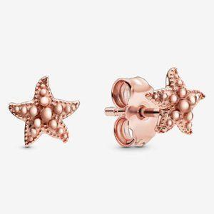 🔥Pandora🔥 Beaded Starfish Stud Earrings